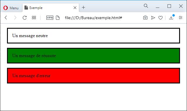 Exemple d'utilisation de plusieurs classes