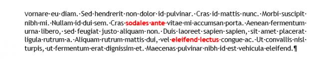 Exemple de styles de caractère