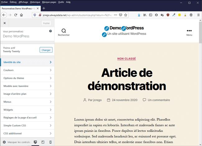 Customizer de WordPress