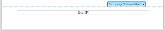 Exemple de numérotation de page avec des champs sur