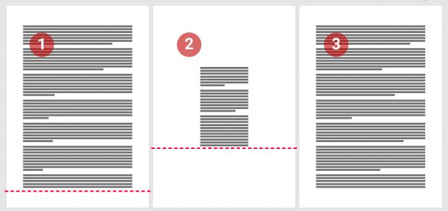 Sauts de section page suivante pour modifier les marges de la page