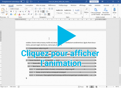 Animation sur la modification du style TM 1