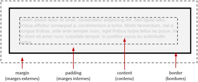 Représentation du modèle de boîte