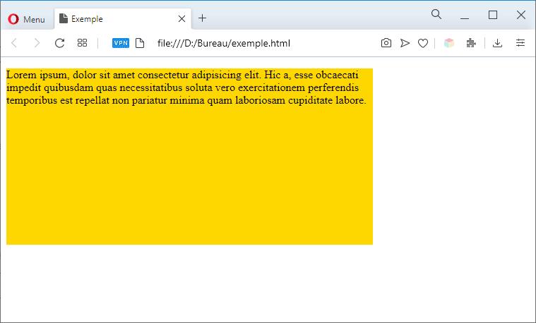 Paragraphe dimensionné en CSS