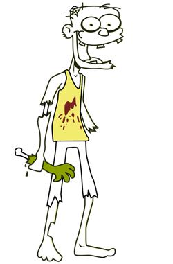 Colorisation du tshirt du zombie