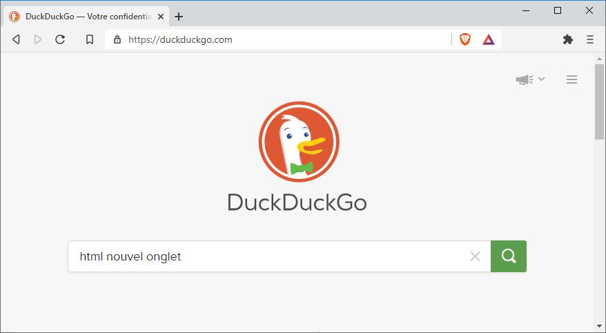 Recherche Duckduckgo
