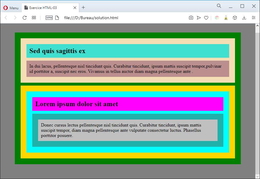 Aperçu de la solution avec des couleurs 2