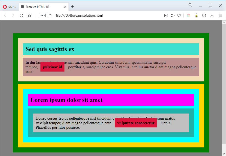 Aperçu de la solution avec des couleurs 3