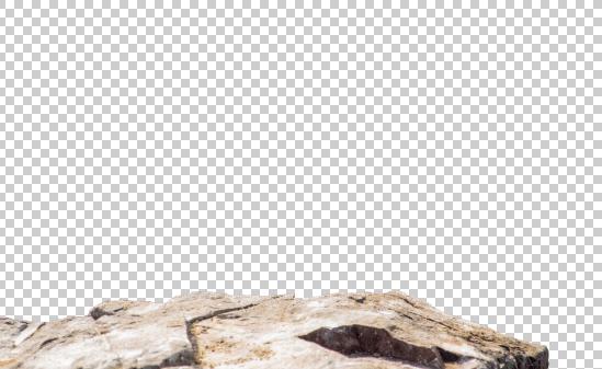Détourage des rochers