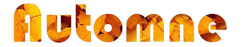 Aperçu du mot automne avec image en remplissage