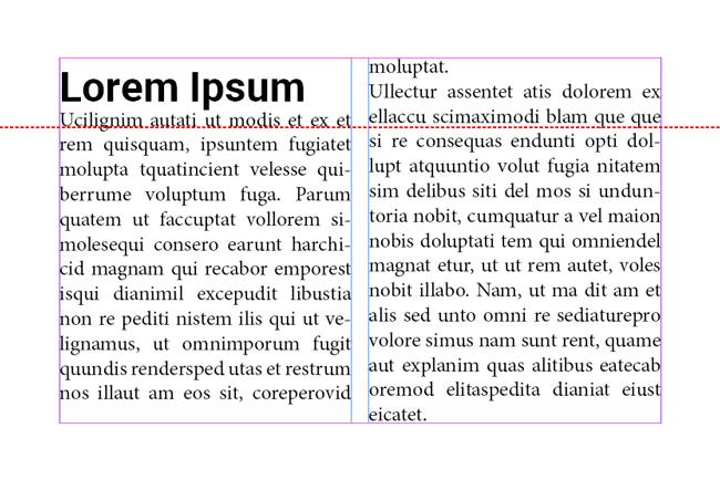 Exemple de problème de ligne de base