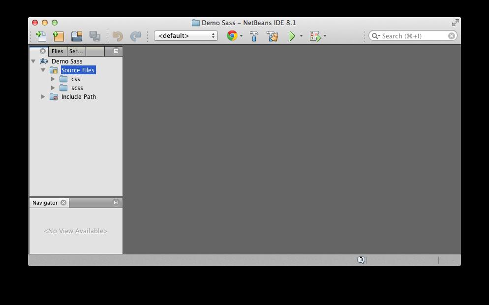 Fenêtre de Netbeans avec panneau projets