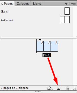 Duplication de la première page à 3 volets