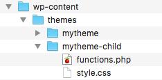 Arborescence de fichiers pour un thème enfant